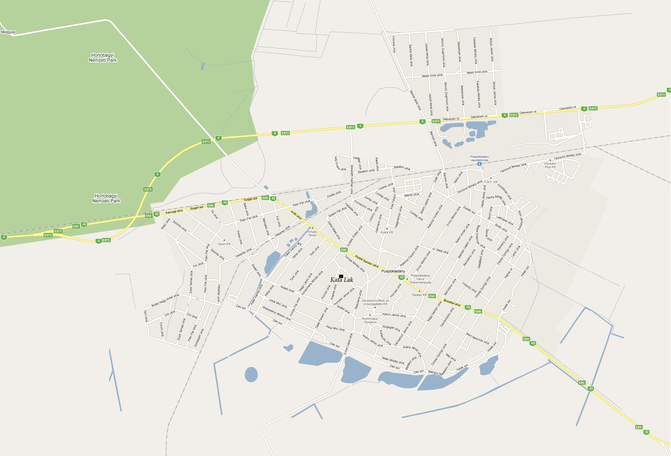 püspökladány térkép Kata Lak, Püspökladány püspökladány térkép